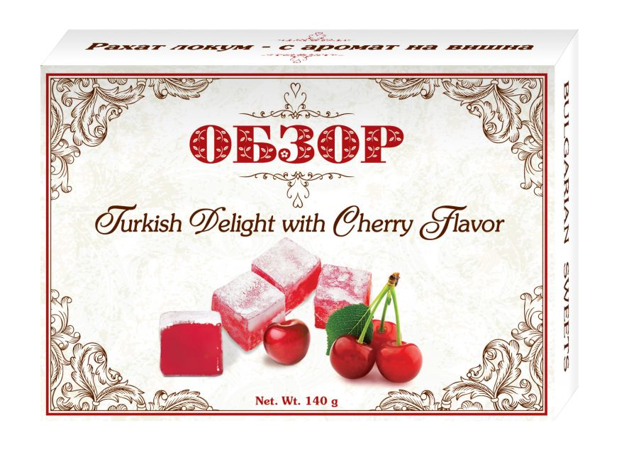 Turkish delight with cherry flavour