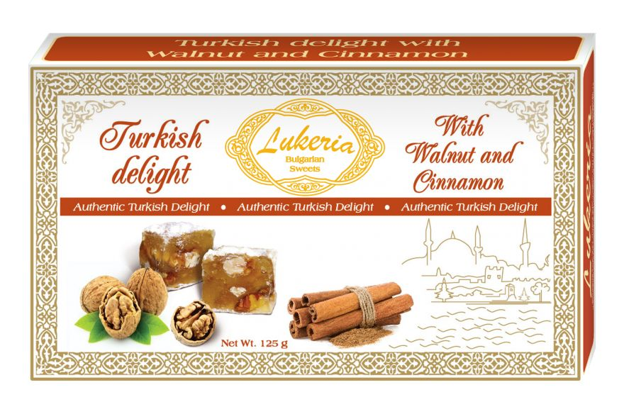 Turkish delight with Walnut and Cinnamon