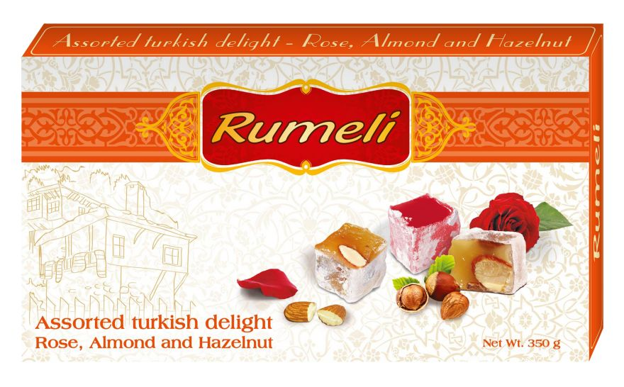 Assorted turkish delight - Rose, Almond  and Hazelnut Barcode