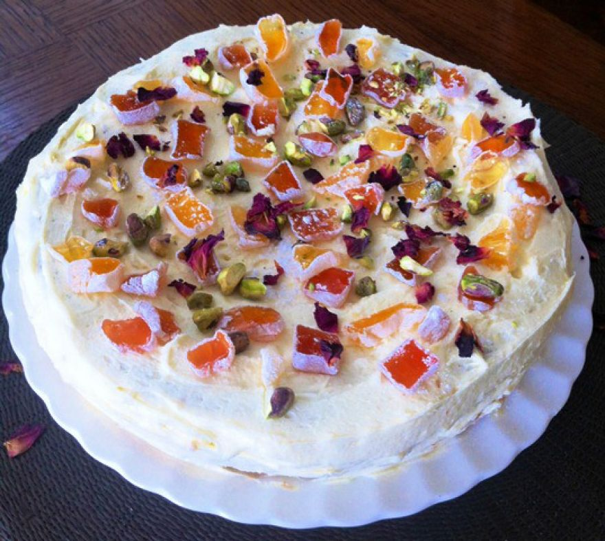 Miss Sunshine Flourless Orange and Almond Torte with Lemon Cream