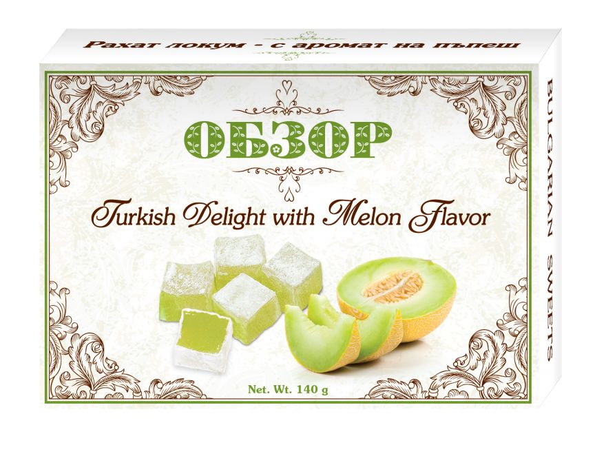 Turkish delight with Melon flavour