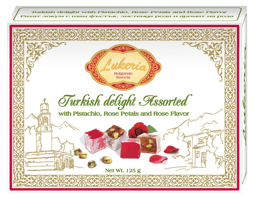 Turkish delight with Pistachio, Rose Petals and Rose Flavor