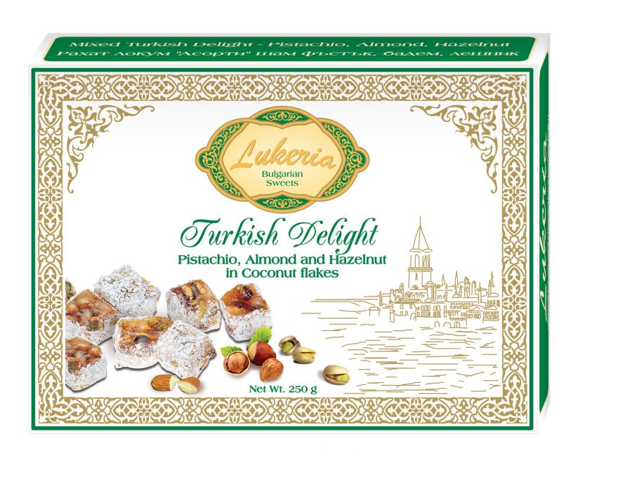 Turkish delight - Pistachio, Almond, Hazelnut