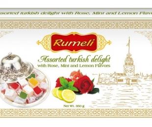 Assorted turkish delight - Rose, Lemon, Menthe